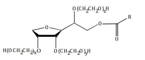 Croda ECO Tween 80 Chemical Structure - Polyethoxylated Monoester