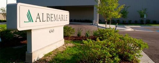 Albemarle Corp producer card banner