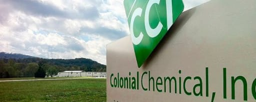 Colonial Chemical producer card banner