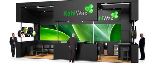 Kahlwax™ brand card banner